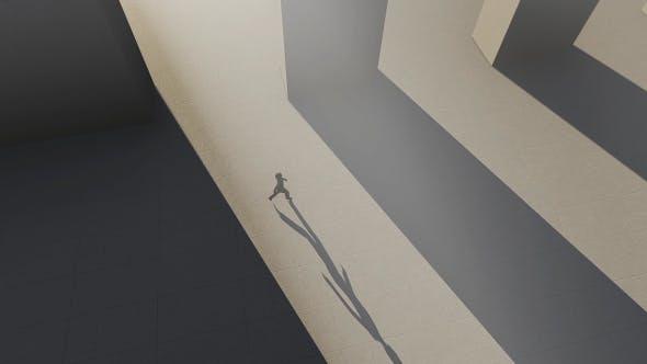 Thumbnail for Women Walking Through A Long And Huge Corridor