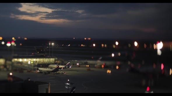 Thumbnail for Busy Sheremetyevo Airport at Night, Moscow