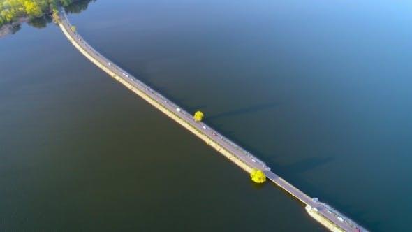 Thumbnail for Flying Over the River Dam Ukraine