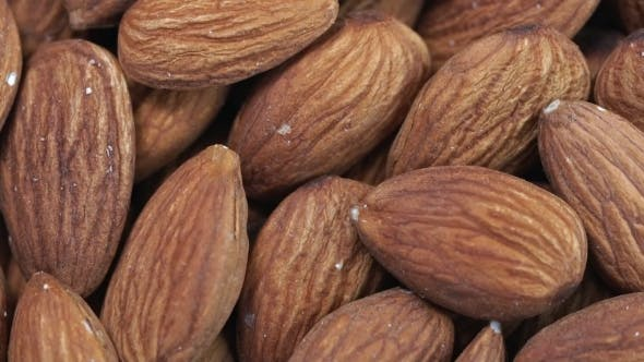 Thumbnail for Almond . Rotating Nuts Background