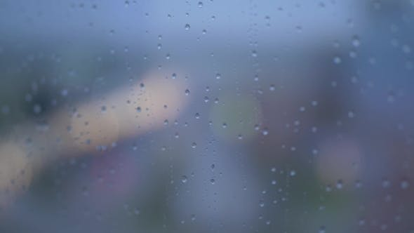 Thumbnail for Rain Drops on Steamy Window