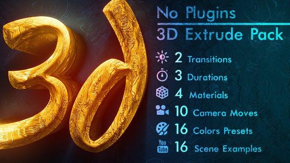 Thumbnail for Titres en or 3D et Logo. PAS DE PLUGINS.