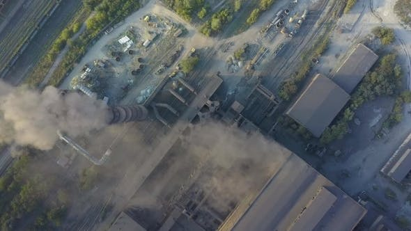 Thumbnail for Aerial View of Industrial Oil Refinery Plant Station Gas Industry Background