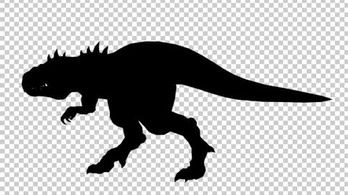 Dinosaur Silhouette Walking