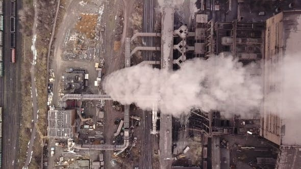 Thumbnail for Emission To Atmosphere From Industrial Pipes Smokestack Pipes Shooted with Drone