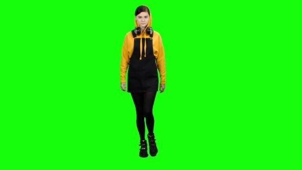 Thumbnail for Student Is Attending Lectures. Green Screen