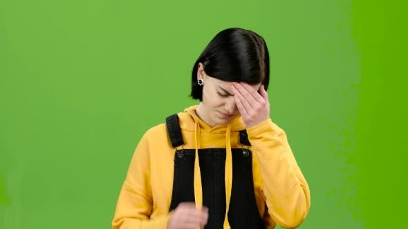 Thumbnail for Teenager Suffers From a Headache. Green Screen