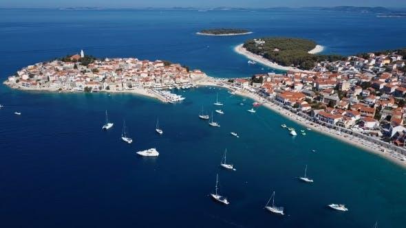 Thumbnail for Flying Over Resort Adriatic Town Primosten, Croatia.