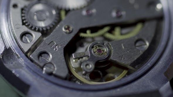 Thumbnail for Old Watch Mechanism  Loop. Vintage Mechanism Working,  Shot with Clock mechanism.Vinta
