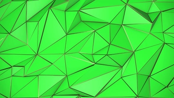 Thumbnail for Green and Gold Abstract Low Poly Triangle Background