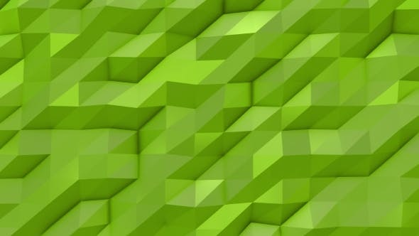 Thumbnail for Green Abstract Low Poly Triangle Background
