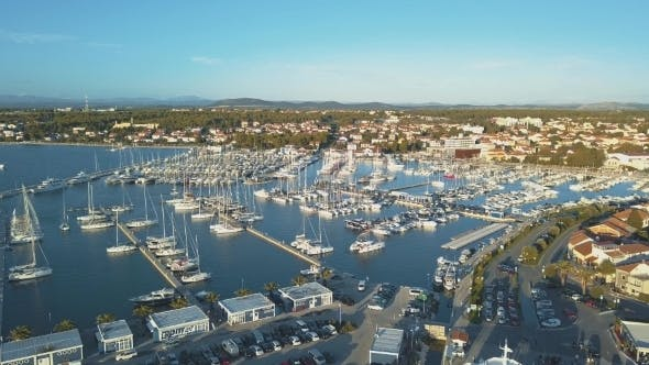 Thumbnail for Aerial View of Yacht Club and Marina in Croatia Biograd Na Moru