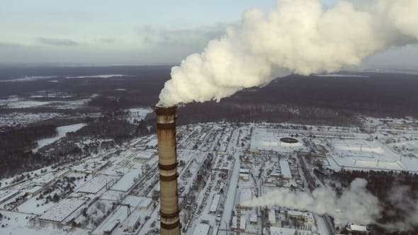 Thumbnail for Aerial of a Coal Fire Power Station