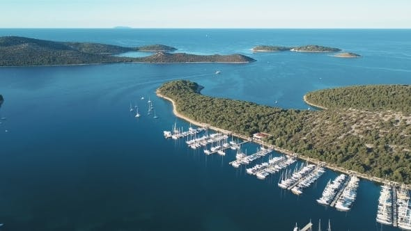 Thumbnail for Aerial View of Yacht Club and Marina in Croatia, Frapa