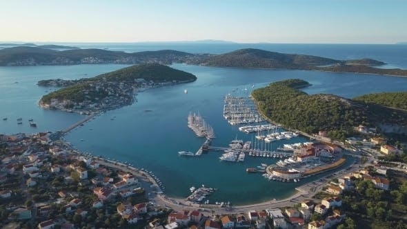 Thumbnail for Aerial View of Yacht Club and Marina in Croatia