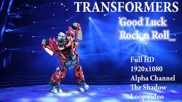 3D Robot Good Luck Rock n Roll