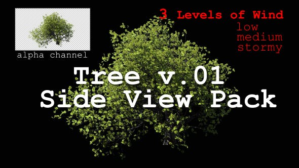 Thumbnail for Tree v. 01 Side View Pack