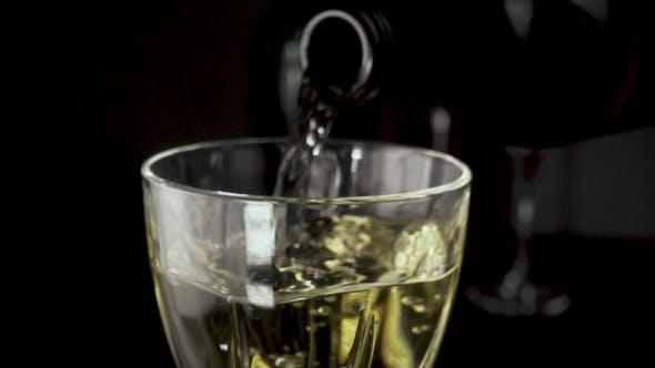 Thumbnail for Wine Is Pouring Into the Glass From the Bottle