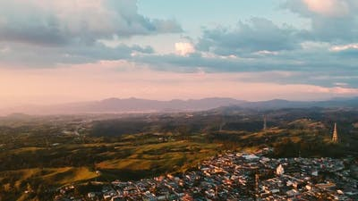 Tourist town of Colombia