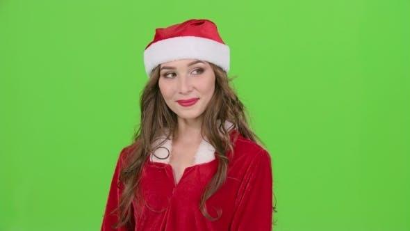 Thumbnail for Santa Woman Shows Thumb up on Green Screen
