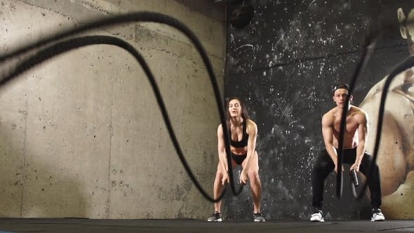 Thumbnail for Athletes Doing Cross-Training With Rope