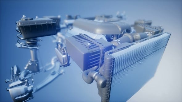 Cover Image for Detailed Car Engine and Other Parts