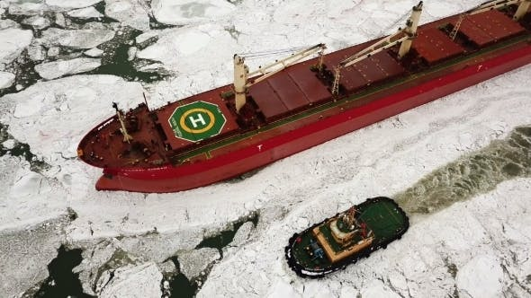 Thumbnail for The Ship Sails Through the Sea Ice in the Winter