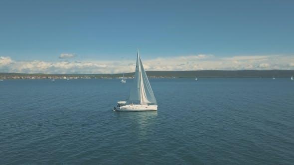 Thumbnail for Yacht Sailing Near Beautiful Islands