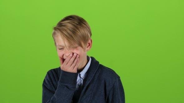 Thumbnail for Little Guy Smiles on Green Screen