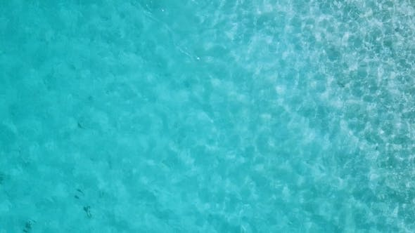 Shiny Ocean Under Sunlight From High Altitude, Sea Wave