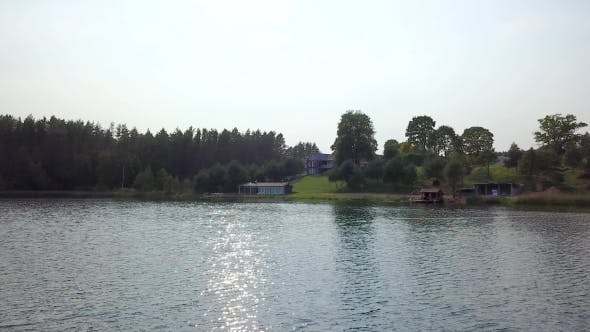 Thumbnail for Country House Is Located on the Slope of the Forest near the River