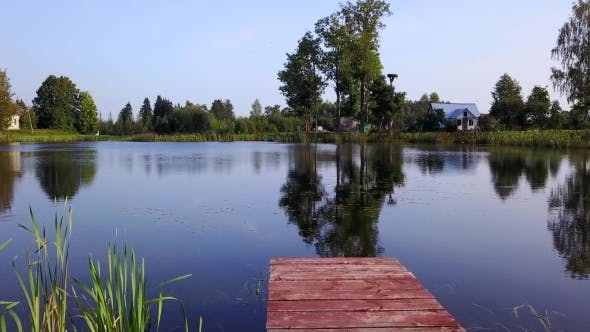 Thumbnail for View above Wooden Bridge for Fishing