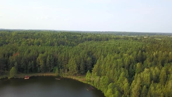 Thumbnail for Great Place for Recreation and Fishing on the River Surrounded by Forest