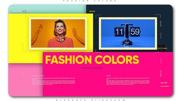 Cover Image for Fashion Colors Elegance Slideshow