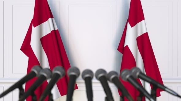 Thumbnail for Danish Official Press Conference Featuring Flags of Denmark