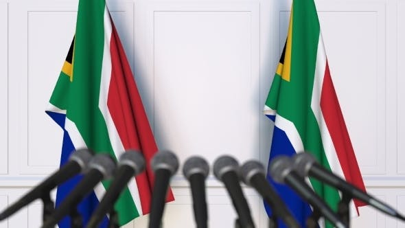 Thumbnail for SAR Official Press Conference Featuring Flags of South Africa