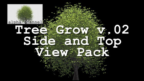 Thumbnail for Tree Grow v. 02 Side and Top View Pack