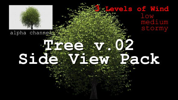 Thumbnail for Tree v. 02 Side View Pack