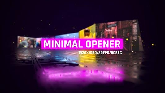 Minimal Openers/ Simple Slideshow/ Modern Museum/ Stylish Intro/ Bright 3D Camera Move/ Neon Mood