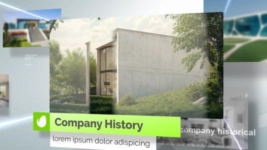 Presentación de diapositivas corporativa ligera