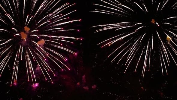 Thumbnail for Colorful Fireworks Exploding in the Night Sky Celebrations and Events in Bright Colors