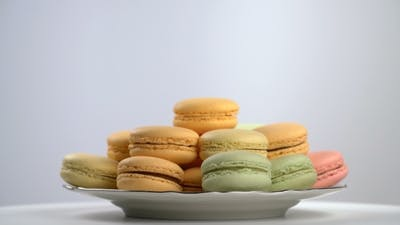 Colorful French Macarons, Gourmet Dessert
