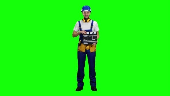 Thumbnail for Worker Keeps a Movie Cracker on Green Screen