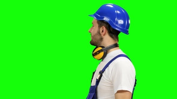 Thumbnail for Brigadier Stands and Looks Into the Distance and Smiles on Green Screen