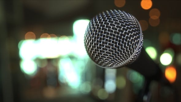 Thumbnail for Microphone Against Blurred Background
