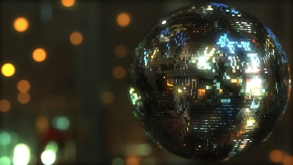 Cover Image for Glittering Disco Ball Against Bokeh Background