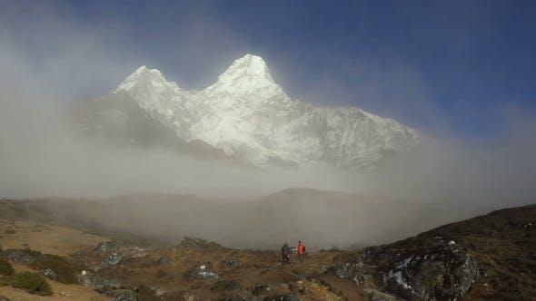 Thumbnail for Trekker Below Ama Dablam in the Nepal Himalaya