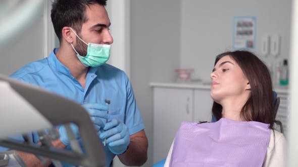 Thumbnail for Dentist Uses Mouth Mirror