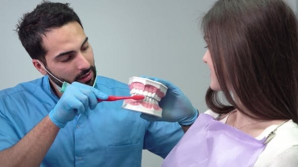 Thumbnail for Dentist Shows How To Clean Teeth
