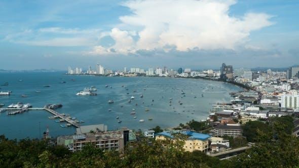 Thumbnail for View of Pattaya City Beach at Pratumnak Viewpoint.